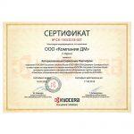 Сертификат авторизованного партнера Киасира компании ДМ